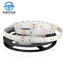 7020 DC12V waterproof/ non-waterproof 60leds/m 5M/roll Cold white flexible LED strip free shipping