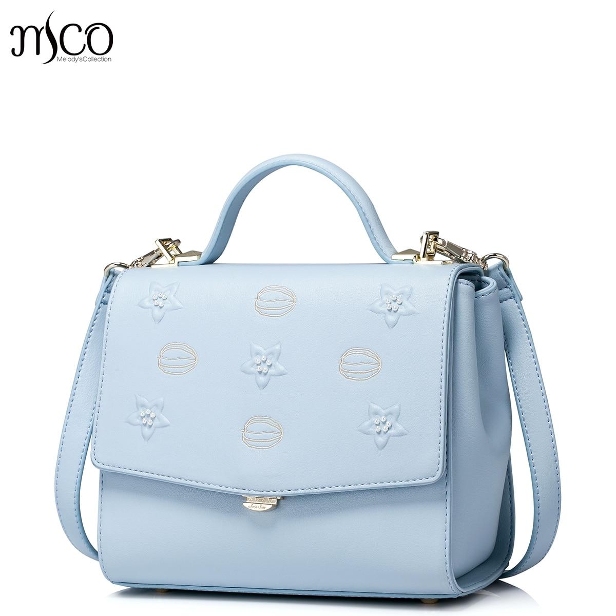 2017 New Fashion Stars Printing Fresh Blue Flap Handbag For OL Ladies Luxury Embroidery Women Shoulder Bag Small Messenger Bags стоимость