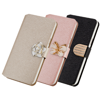 Luxury PU Leather Cover For LG X Style K200DS 5inch Case Stand Flip Phone with Card Holder
