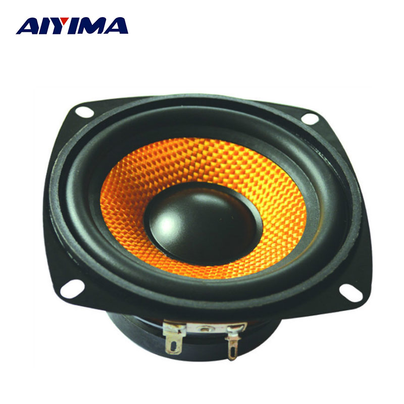 AIYIMA 1Pc 4Inch Audio Portable Speaker 4Ohm 15W Bass Speaker DIY Professional Multimedia Subwoofer Speakers цена 2017