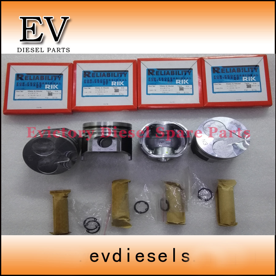 hight resolution of for kubota kx71h excavator v1505 v1505t piston piston ring full cylinder head gasket kit in pistons rings rods parts from automobiles motorcycles on