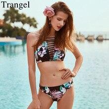 Trangel марка купальники сексуальное бикини установить классический печати купальники push up бикини 2017 летом пляж носить низкой талией бикини biquini