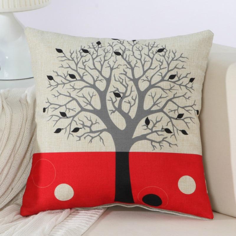Fundas de cojines decorativos con rboles - Cojines decorativos para sofas ...