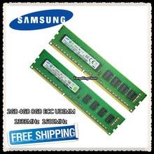 Samsung DDR3 2GB 4GB 8GB 1333MHz 1600MHz puro ECC UDIMM de memoria del servidor 2RX8 8G PC3L-12800E estación RAM 10600 12800 Unbuffered