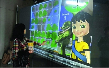 "transparent 10 points 52"" interactive touch foil screen/touch film"