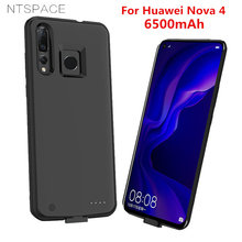 NTSPACE Battery Charger Cases For Huawei NOVA 4 Power Bank 6500mAh Ultra Slim Backup Case Portable Charging