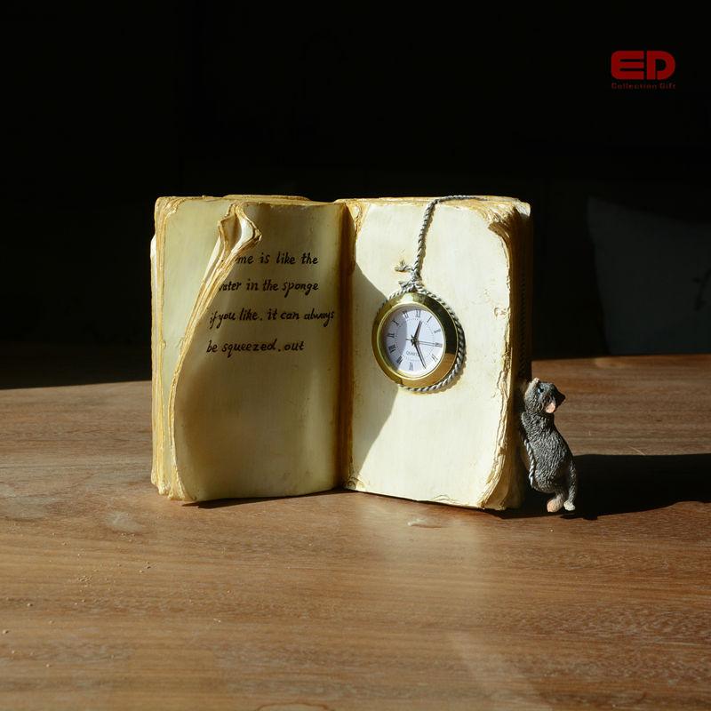 KOLEKSI SETIAP HARI Kreatif Buku Resin Tersedia Jam Peri Mini Garden - Dekorasi rumah - Foto 2