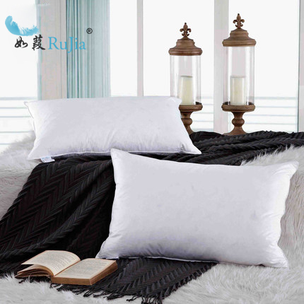 Vintage Luxury Hotel Cotton Rectangle Small White Duck Feather Mesmerizing Small Pillow Inserts