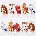 Cute Princess Palace Animais Com Coroa PVC Dolls Figura Modelo Brinquedos Presente de Natal Para Crianças Kunai Para Animais de Estimação