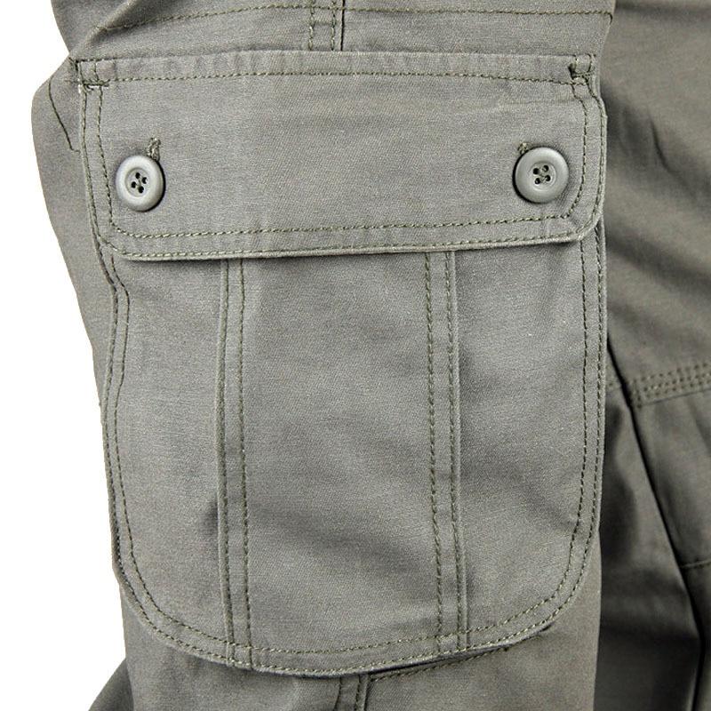 Mens Cargo Pants Mens Casual Multi Pockets Military Tactical Pants Men Outwear