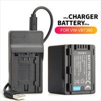 VW VBT380 VW VBT190 Battery + USB Charger for Panasonic HC V727 HC V750 HC V757 HC V770 HC V250 HC V260 HC V130 HC VX870 HC W570