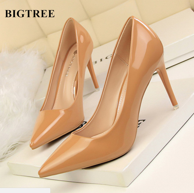 3333147d38c59 Fashion BIGTREE women Shoes Ladies Sexy High Heels Women Prom Shoes Best  Selling Evening Shoes Single High-heeled shoes