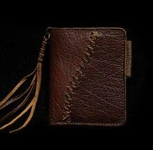 Männer vintage kleinen kurzen brieftasche designer tasche handtasche modische genunine leder rindledermappe männer