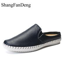 Купить с кэшбэком Men Boat Shoes Loafers Fashion Leather Casual Shoes Lightweight Flats Men Shoes Breathable Zapatos High Quality Male Shoes