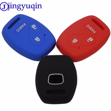 jingyuqin 2/3 Buttons Remote Car-Styling Silicone Key Cover Case For Honda FIT INSIGHT Civic Accord CR-V Ridgeline
