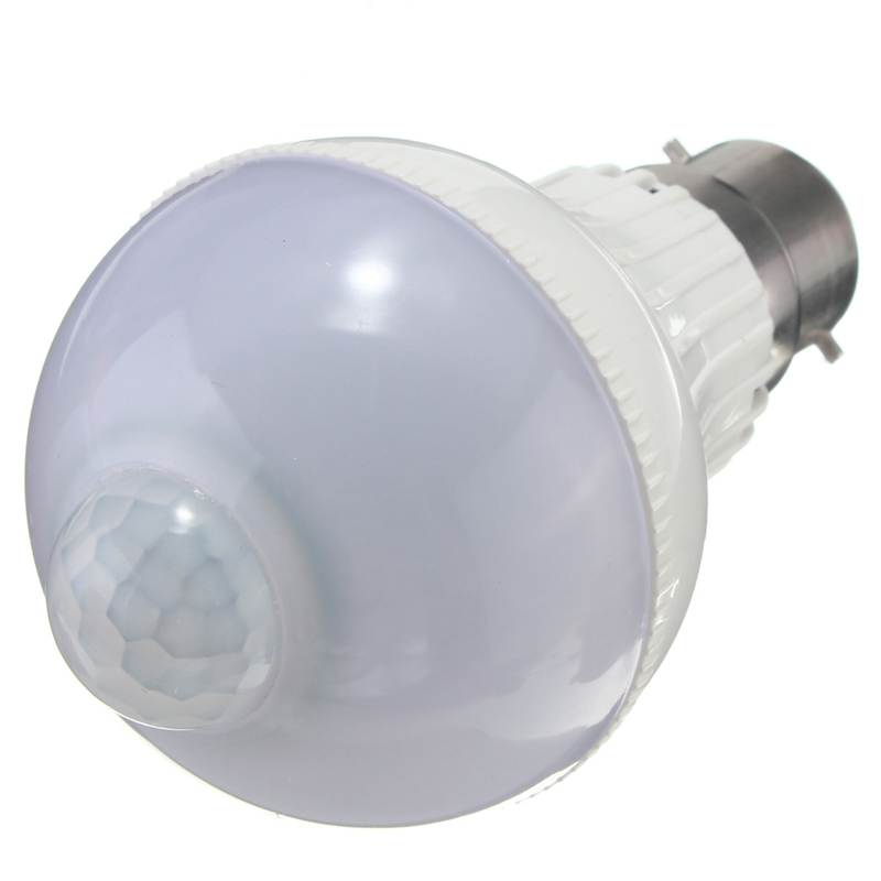 Lowest Price B22 Pure Warm White 5W 2835 SMD 18 LED Motion Control PIR Sensor Globe