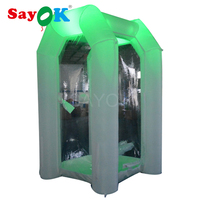 LED inflatable money cash cube booth inflatable cash machine with RGB lightings for promotion advertising