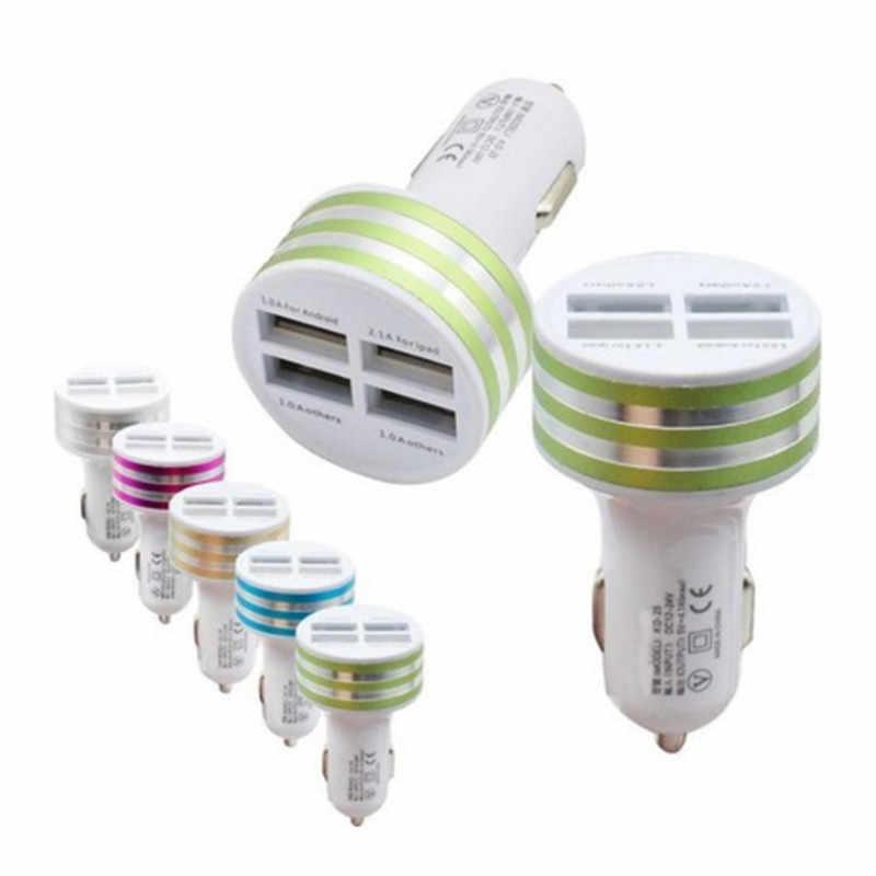 JETI Adaptörü + mikro usb şarj kablosu iPad için iPhone6/7 Samsung Araba Evrensel Chargeur 4.1A 4 Port telefon USB şarj cihazı