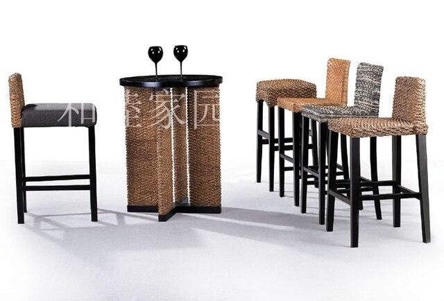 New Listing Rattan Furniture Rattan Cane Wood Stool Bar Chair Rattan