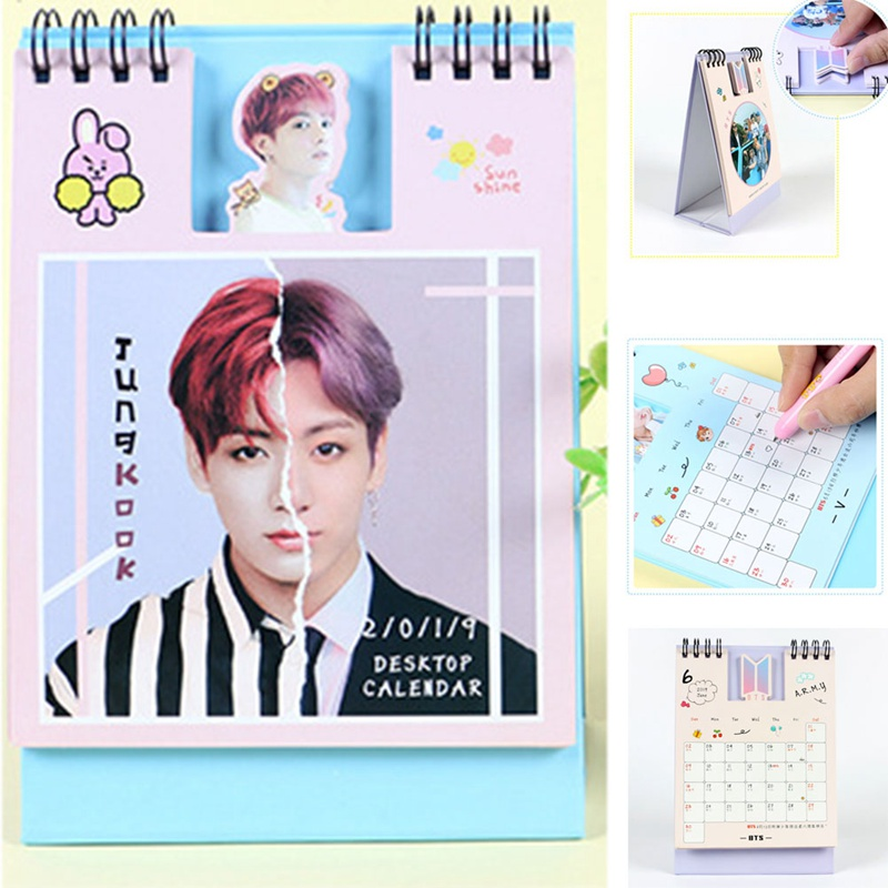 Kpop Bts Love Yourself 2019 Mini Desktop Calendar Jungkook V Photo Picture Army Gift Beads & Jewelry Making