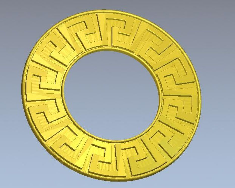 3d Model Relief  For Cnc In STL File Format Frame_round