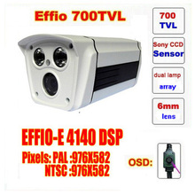 Free shipping infrared video camera security system surveillance camera sony ccd with osd menu dual lamps array ir led