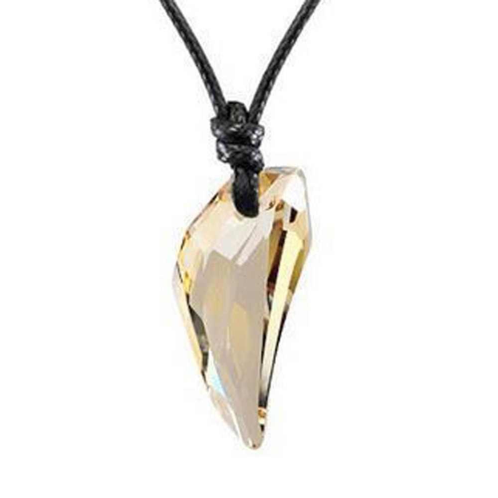 Kryształ Spike naszyjnik mężczyźni osobowość naszyjnik biżuteria dla kobiet urok wisiorek naszyjnik przyjaciół prezent Drop Shipping