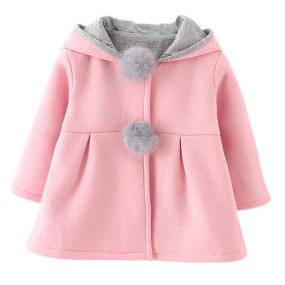 50fe4a128ce2 wide varieties bdab4 b8149 kawaii rabbit ear hooded baby girls coat ...