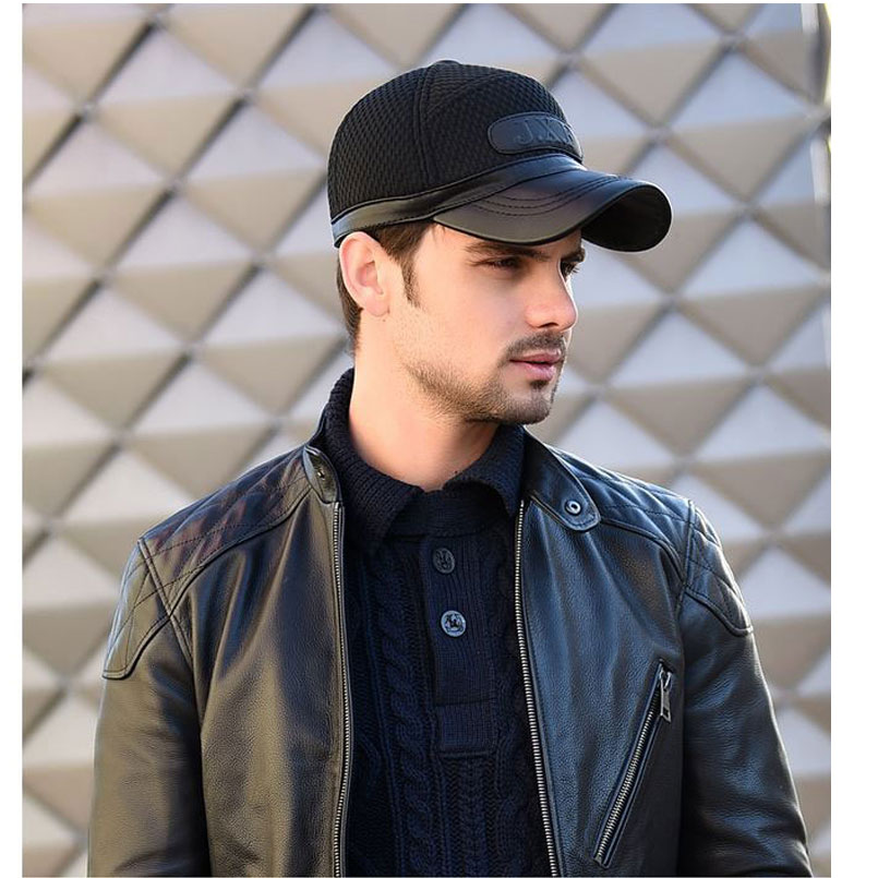 598e2432340 2018 Sale Special Offer Winter Baseball Cap Men Dad Hats For J.x.f Logo  Trucker Patchwork Design With Earflaps Chapeu Masculino -in Baseball Caps  from ...