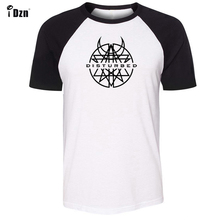 Unisex Summer Mens T-shirt Short Sleeve tshirt Disturbed Nu metal Rock Band Print Graphic Boys t shirt Cotton Tee Tops Clothes