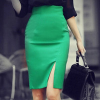 New Fashion Women Pencil Skirts Women S Formal Business Skirt Summer Vocational OL Skirts