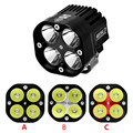 1x 40W CREES U3 Motorcycle LED Waterproof IP68 Driving Headlight Fog Light Black