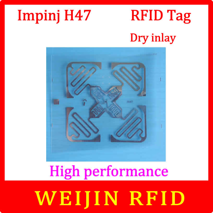 Impinj 860-960MHZ UHF RFID dry inlay 915M  Monza4 EPC H47 can be used to RFID tag and label 1000pcs long range rfid plastic seal tag alien h3 used for waste bin management and gas jar management