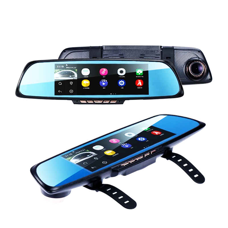 GUBANG 6.86 HD 1080P Car DVR Dash Video Recorder Dual Lens +GPS Navigator+Rearview Cam ...