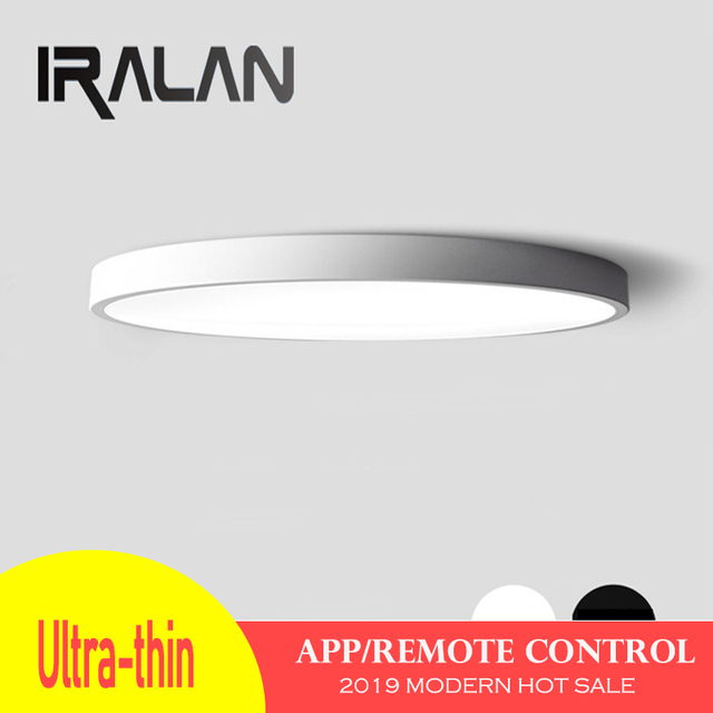 IRALAN 5cm Ultra-thin modern LED Ceiling Lights Lamp Luminaria Ceiling Light With key Dimmable Color Fixtures Lustre Plafonnier