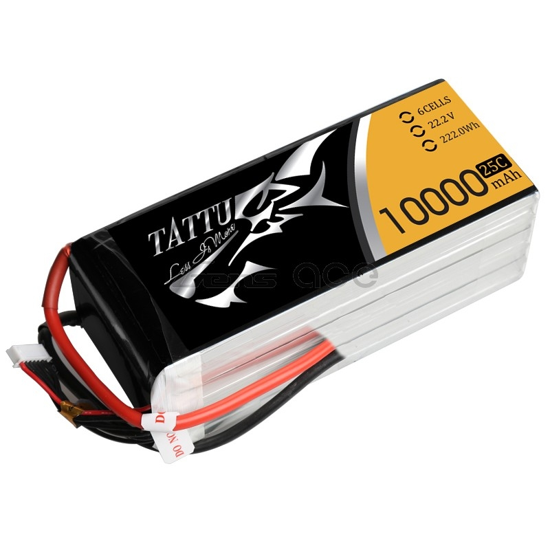 Tattu/Gens Ace 10000mAh 22.2V 25C 6S Lipo Battery Pack цена и фото