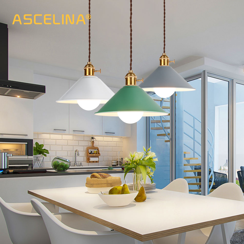 Modern Nordic Pendant Light LED Pendant Lamp American Hanging Lamp Colorful Lamp Luminaire Living Room Bedroom Decoration Paint