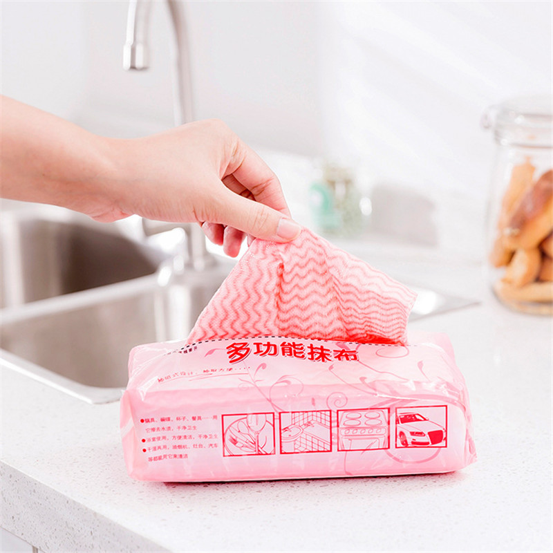 Multi-purpose Removable Dish Cloth Scouring Pad Disposable Non-woven Fabric Sink Hood Table Cleaning Cloth Home Kitchen Tools