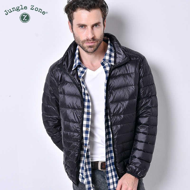2018 가을과 겨울 초경량 다운 재킷 남성 재킷 거위 깃털 대형 캐주얼 짧은 재킷 남성 다운 재킷 도매