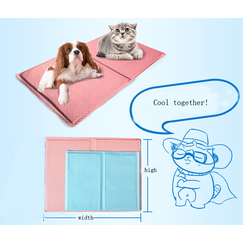 Pet Cool Mat Ice Pad dog house ice mats gel Summer Heat dissipation pad for pets Seats notebook