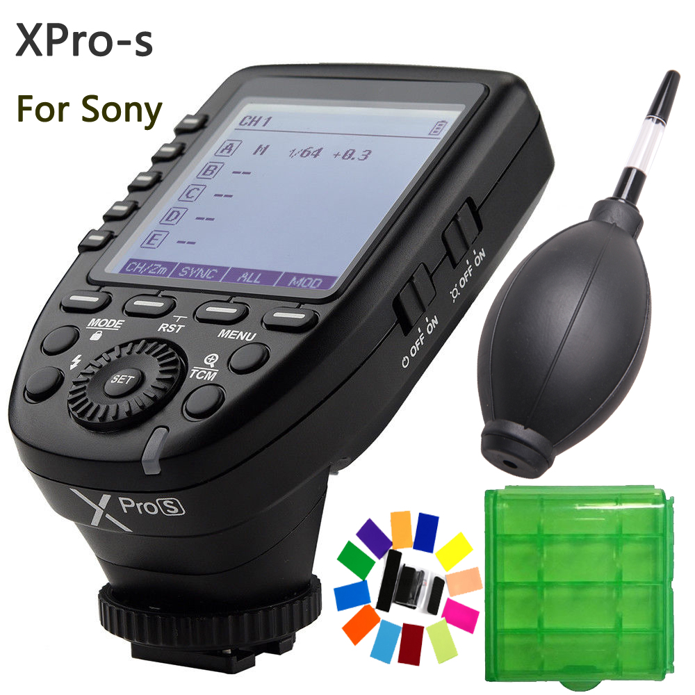 In Stock Godox Xpro-S TTL 2.4G Wireless X system Transmitter Trigger For Sony A77 II A99 A9 A7R III A350 Godox TT685S V860II-S in stock godox xpro xpro s for sony camera ttl tt685s v860ii s wireless transmitter trigger 1 8000s 11 customizable functions