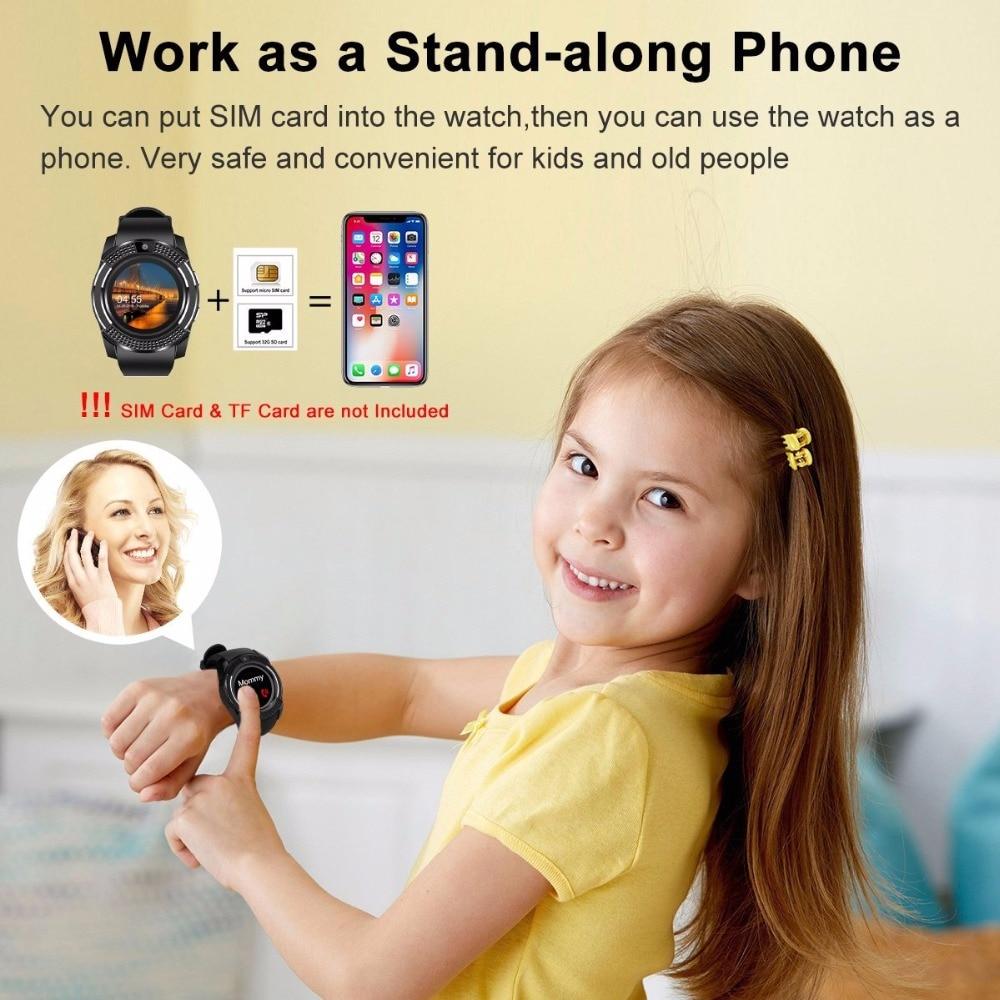 V8 SmartWatch Bluetooth Smartwatch Touch Screen Wrist Watch with Camera/SIM Card Slot, Waterproof Smart Watch DZ09 X6 VS M2 A1 21