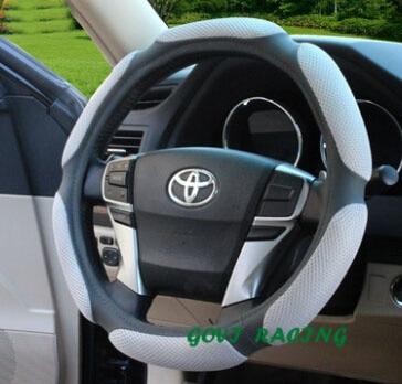 Stūres rata pārsegs ar PVC ādu 38cm stūres rata universālam DIY - Auto salona piederumi