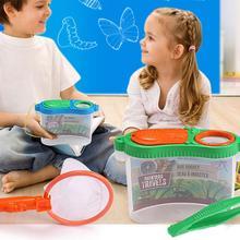 Раннее детство образование экспериментальные исследования пластик коробки для инструментов ловушка для насекомых Кормление контейнер для наблюдения мозг игры детей
