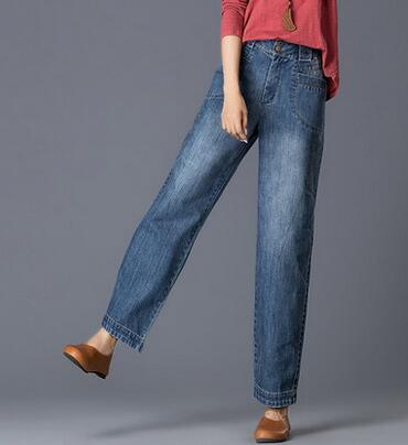Denim font b jeans b font casual cotton bloomers pants for font b women b font