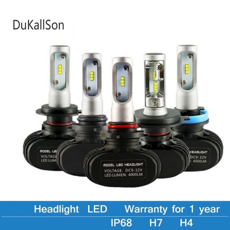 2 шт., Автомобильные светодиодные лампы H4 H7 H1 H3 S1 N1 H27 881 HB3 HB4 12 В 50 Вт 6500 лм