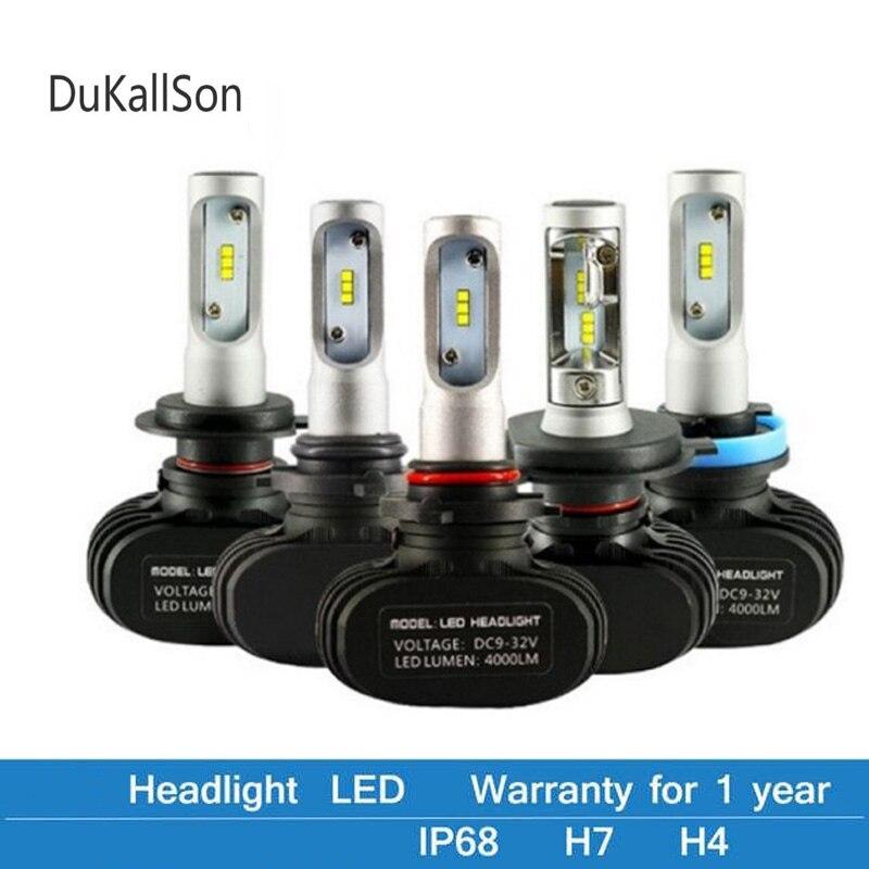 2Pcs CSP H8 H11 Lamp H4 Led H7 H1 H3 Car Headlight Bulbs For Auto S1 N1 H27 881 HB3 HB4 Led Automotive 12V 50W 8000LM 6500K