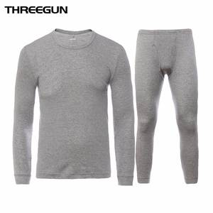 THREEGUN Cotton Winter Long Johns For Men Thermal Underwear