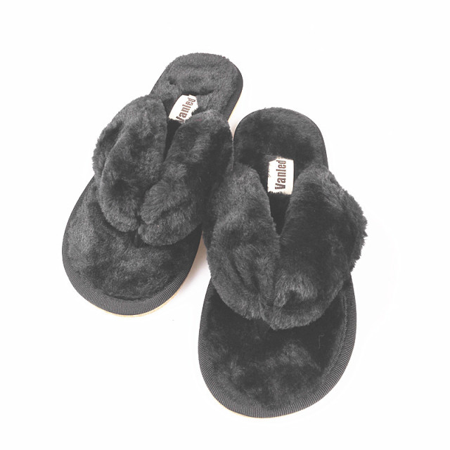 VANLED 15 Colors Fashion Spring Summer Winter Home Cotton Plush Slippers Women Indoor\ Floor Flip Flops Flat Shoes Girls Gift