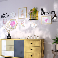 Small Fresh Shelf Combination Decoration Painting Living Room Wall Decoration Hanging Solid Wood Frame Corridor Restaurant